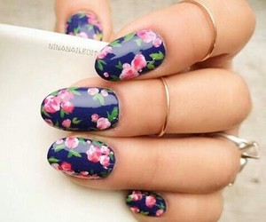 floral, makeup, and nail art image