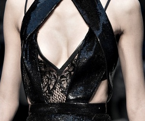 black, haute couture, and fall image