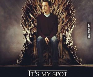 game of thrones, sheldon, and the big bang theory image