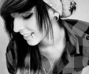 girl, piercing, and cute image
