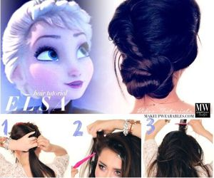 hair, frozen, and elsa image