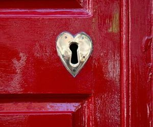 red, door, and heart image