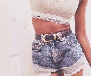 fashion, girl, and crop top image