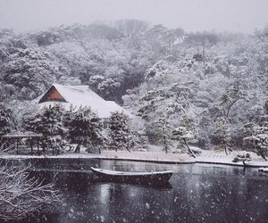 snow and japan image