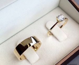 wedding, rings, and gold image