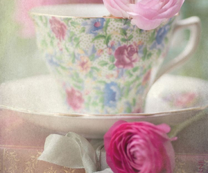 flowers, pink, and books image