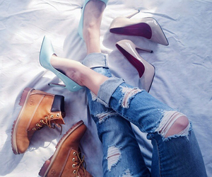 beuty, boots, and fashion image