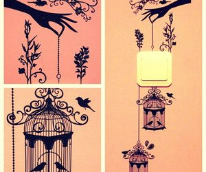 birds, cage, and art image