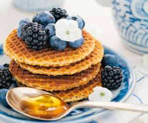 waffles, food, and blueberry image