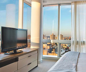 city, house, and bedroom image
