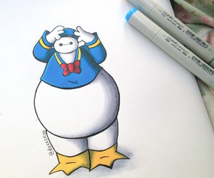 baymax, disney, and donald duck image