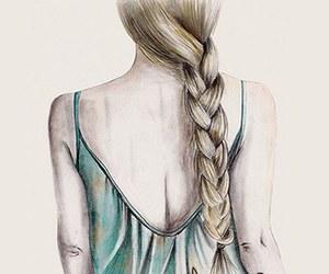 girl, drawing, and wallpaper image