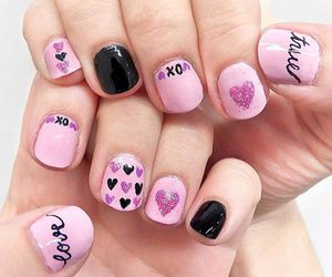 girly, manicure, and xoxo image