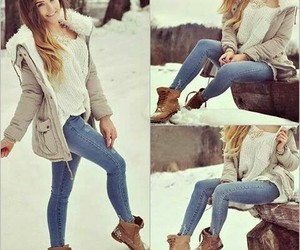 boots, fashion, and jeans image