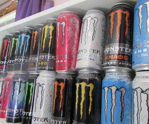 cans, energy, and monster image