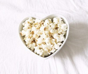 popcorn, food, and heart image