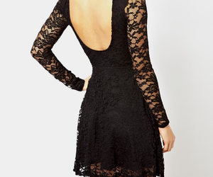 black, clothes, and dress image