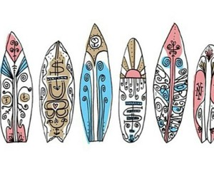 summer, surfboard, and transparent image