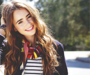 lily collins and smile image