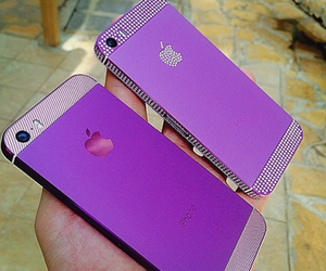 iphone, purple, and apple image