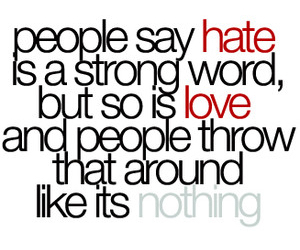 hate, strong, and words image