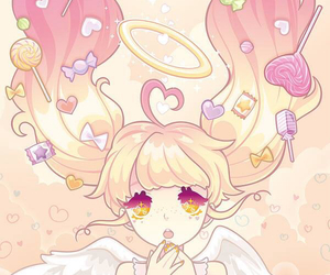 kawaii, pale, and pink image