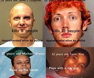 gun, shot, and white people image