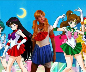 sailor moon and bts image