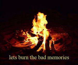 fire, memories, and photography image