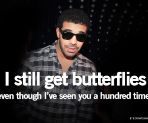 quote, Drake, and butterfly image