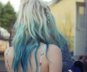 blond, blue, and hair image