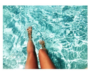 summer, legs, and water image