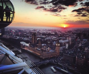 london, sunset, and city image