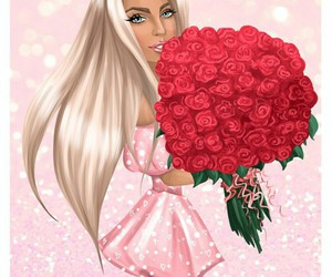 art, barbie, and flower image