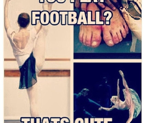 ballet and football image