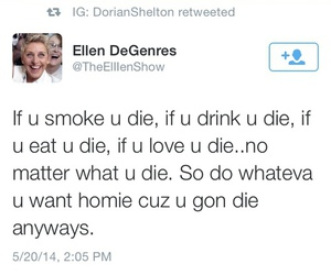ellen, die, and funny image