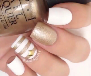 gold, spring, and nails image