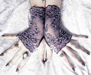 clothing, gloves, and goth image