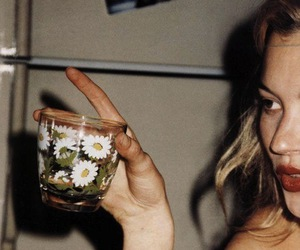 kate moss, model, and flowers image
