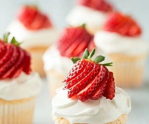 strawberry, cupcake, and food image