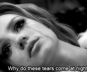 tears, night, and sad image