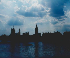 london, clouds, and Big Ben image