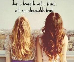 best friends, brunette, and friends image
