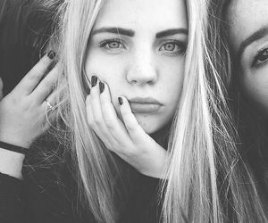 girl, grunge, and blonde image