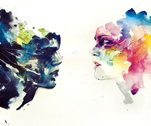 art, watercolor, and agnes cecile image