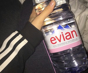 evian and water image