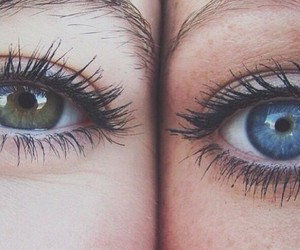 eyes, blue, and green image