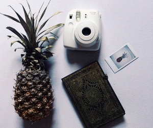 bed, book, and fruit image