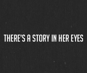 story, eyes, and quotes image