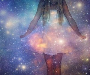 beautiful, blonde, and space image
